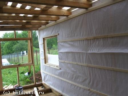схема пристройки веранды к деревянному дому