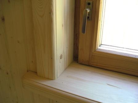 Откосы на деревянных окнах своими руками